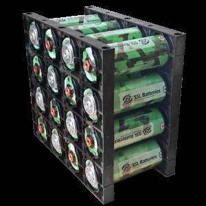 SSL Batteries 3,3 Volt, 45.000 mAh, LiFePo4 (16 Stück)